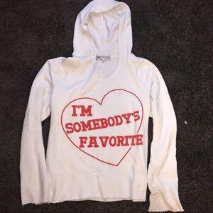 WILDFOX I'm Somebody's Favorite Hoodie Sweatshirt